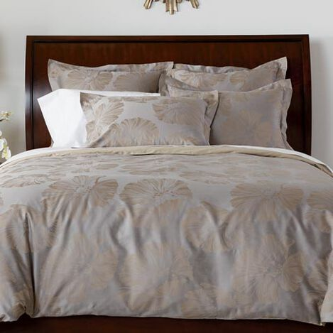 Susana Taupe Floral Duvet and Shams ,  , large