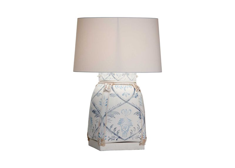 Jasmine Blue Bamboo Table Lamp