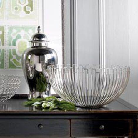 Bol décoratif métallique géométrique ,  , hover_image