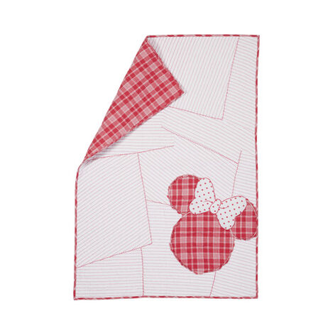 Ticking Stripe Minnie Toddler Quilt, Minnie Pink Product Tile Image 0354102  MPK