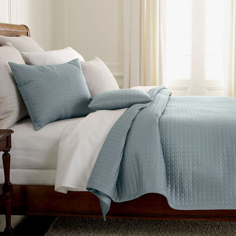 Morgan Queen Coverlet Wilton Blue ,  , large