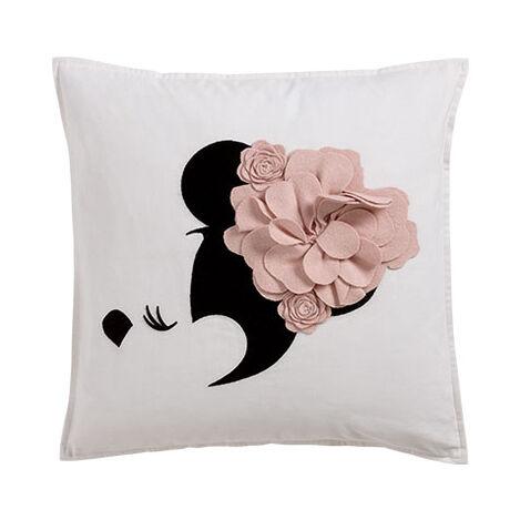 Minnie Mouse Floral Flourish Pillow, Petal ,  , large