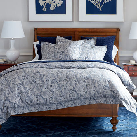 Lorelle Paisley Duvet and Gresham Velvet Coverlet ,  , large