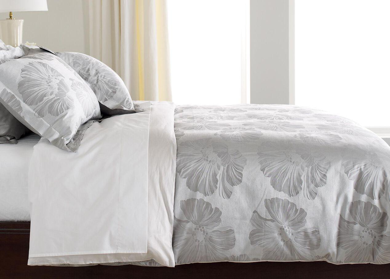 Susana Gray Floral Duvet Cover Bedding Ethan Allen