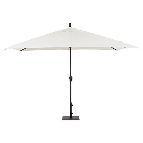 8' x 11' Single Vent White Umbrella ,  , large