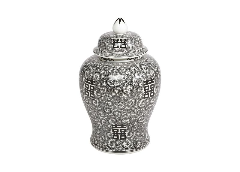 Black and White Temple Jar ,  , large_gray