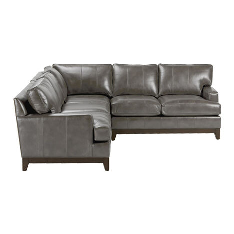 Arcata Three Piece Leather Sectional, Quick Ship ,  , large