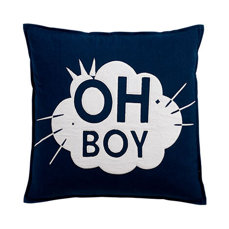 Mickey Mouse Oh Boy Pillow, Deep Sea ,  , large