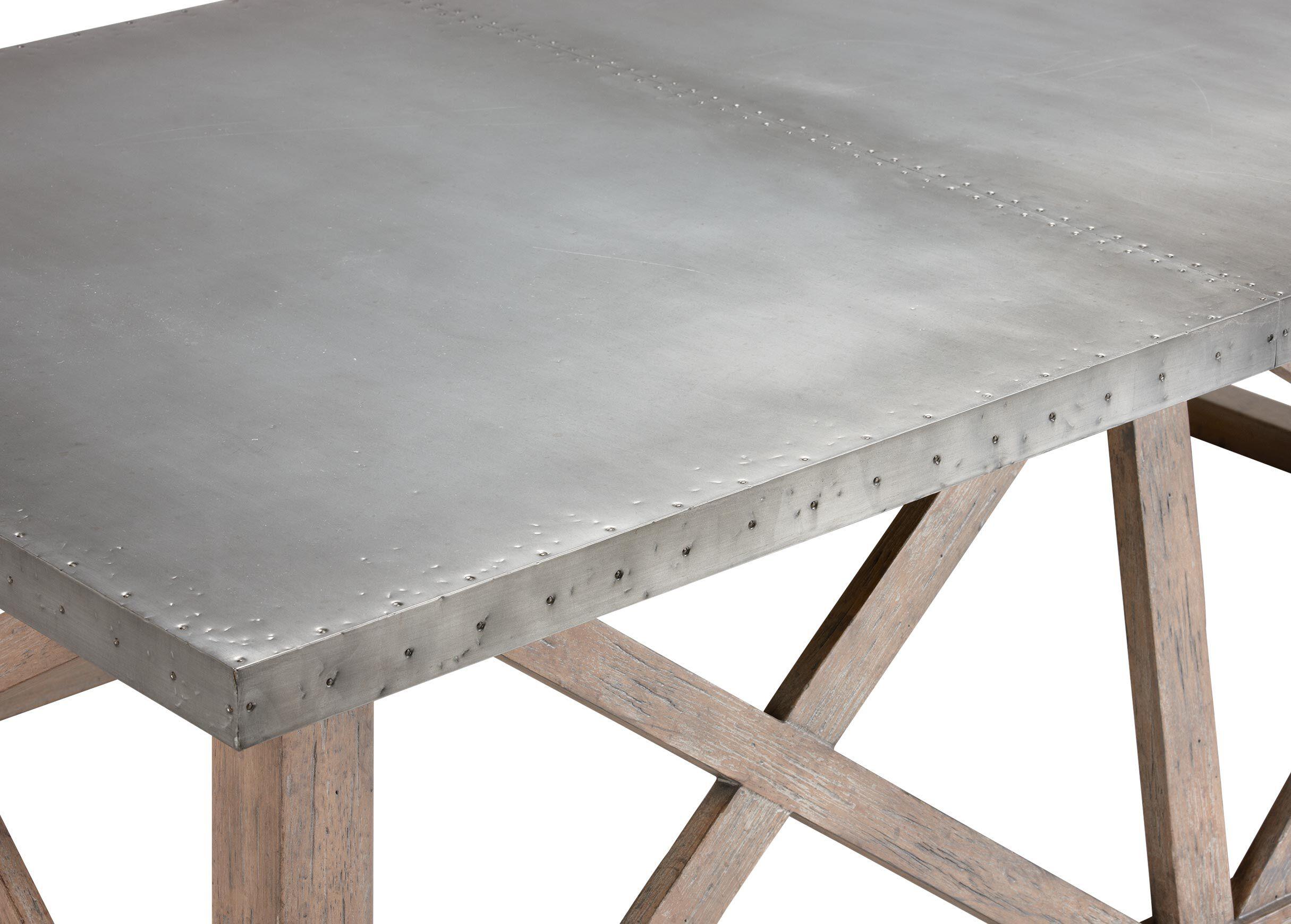 Awesome Bruckner Metal Top Coffee Table , , Alt