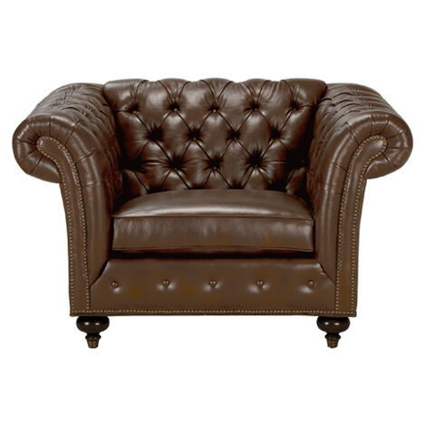 Mansfield Leather Chair, Quick Ship ,  , large