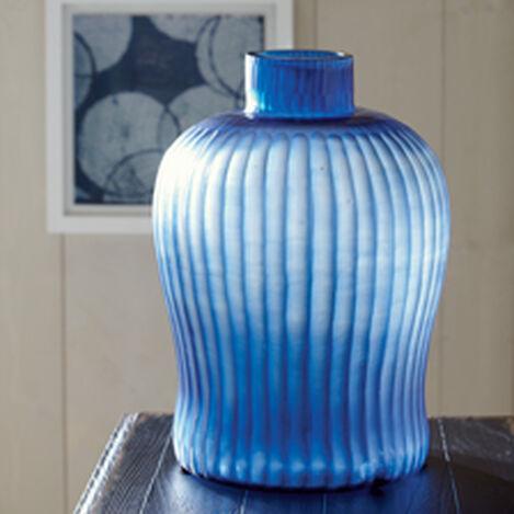 Cut Brayton Indigo Vase ,  , hover_image