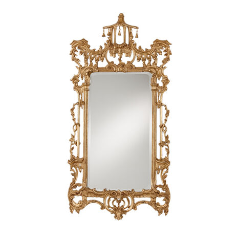 Gold Chinoiserie Mirror Product Tile Image 074424A
