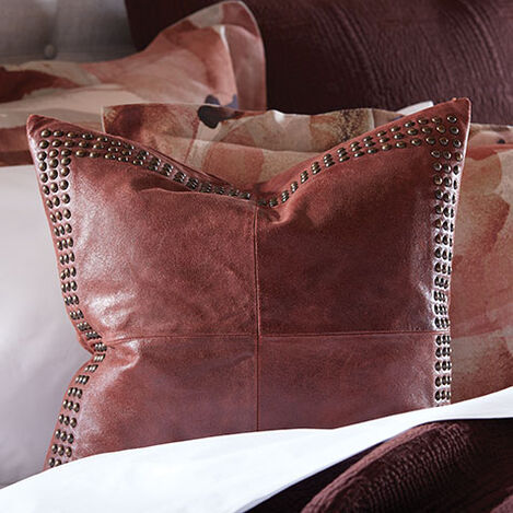 Worn Leather Pillow Product Tile Hover Image 065703MST
