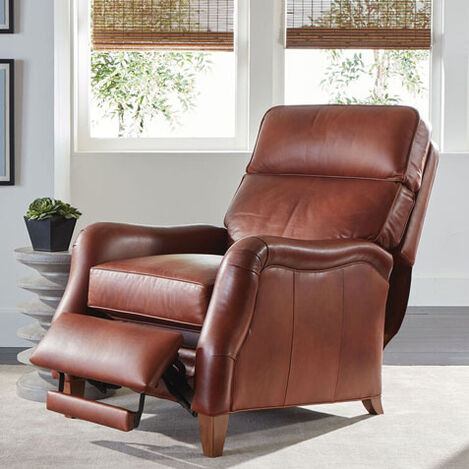 Aiden Leather Recliner, Old English/Saddle Product Tile Hover Image 837965 L7172
