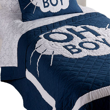 Mickey Mouse Oh Boy Twin Quilt, Deep Sea Product Tile Image 0354073  DPS