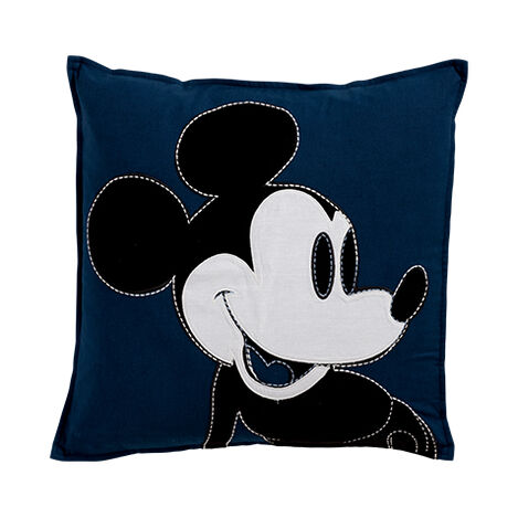 Color Block Mickey Mouse Pillow, Midnight ,  , large