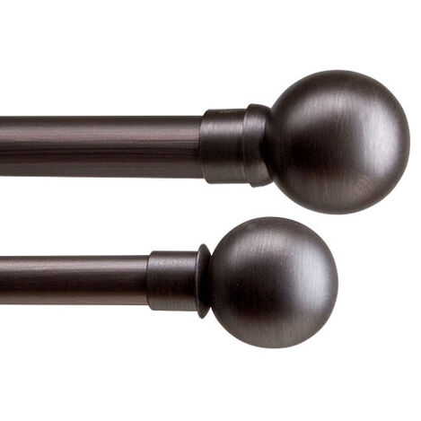 Ball Finials and Drapery Hardware Set, Oil-Rubbed Bronze Product Tile Image BallOilRubbedBronze