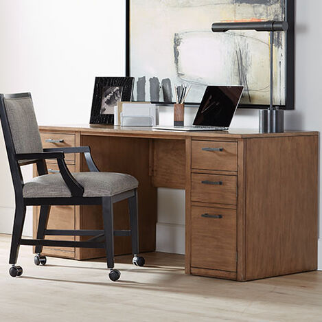 "Duke 60"" Double Pedestal Desk Product Tile Hover Image 389760"
