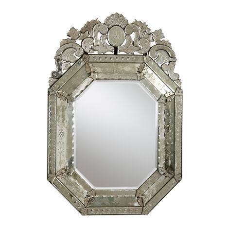Small Ornate Venetian Mirror ,  , large