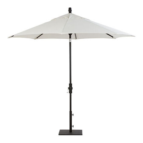 9' Single Vent White Umbrella ,  , large