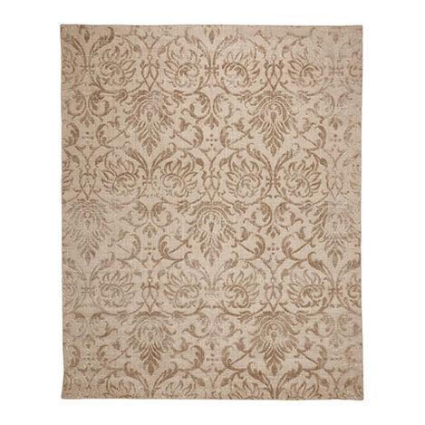 Jacquard Damask Rug, Buff Product Tile Image 041255