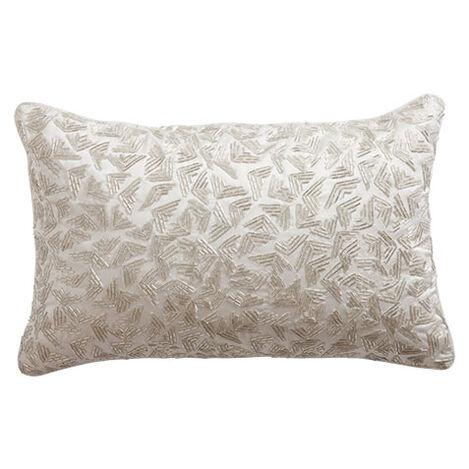 Geometric Beaded Pillow ,  , large