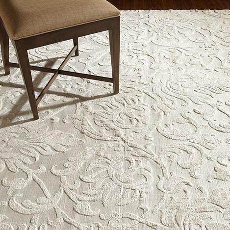 Jacquard Damask Rug, Ivory Product Tile Hover Image 041249