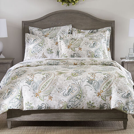 Spring Green Paisley Duvet Cover and Sham Product Tile Image springgreenpaisley