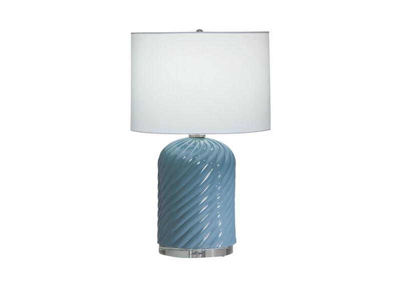 Quinn Ceramic Table Lamp, Blue