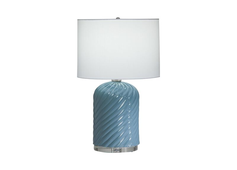 Quinn Ceramic Table Lamp, Blue
