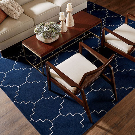 Tulu Tracery Rug, Blue/Natural Product Tile Hover Image 041551