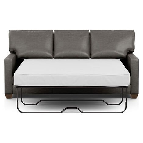 Bennett Track-Arm Leather Queen Sleeper Product Tile Hover Image bennettlthTAqueen