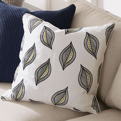 Embroidered Leaf Pillow Product Tile Hover Image 065655