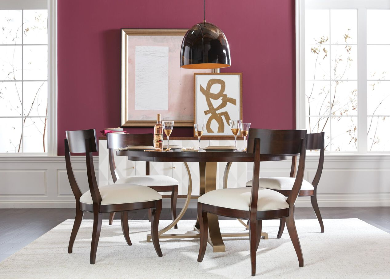 Evansview Round Pedestal Dining Table Round Wooden Dining Table Ethan Allen