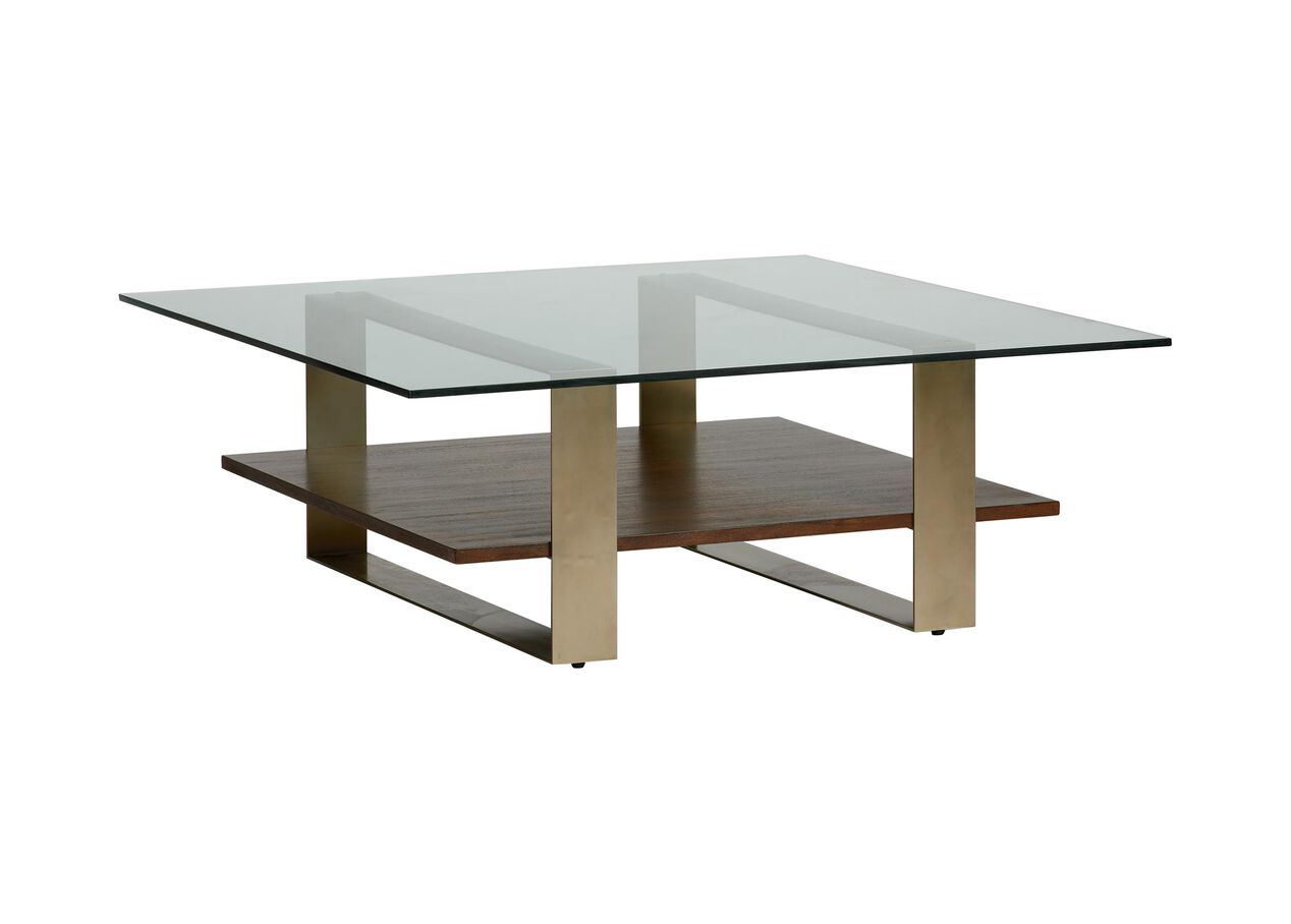Rosemoor Square Glass-top Coffee Table | Ethan Allen