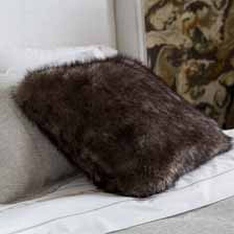 Faux Fur Wolf Pillow ,  , hover_image