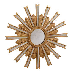 "20"" Gold Starburst Mirror Recommended Product"