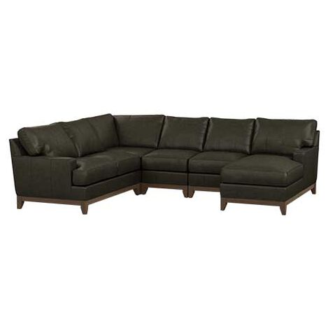 Arcata Five-Piece Leather Sectional with Chaise Product Tile Image 722120G2