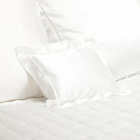 Alexis Ivory Silk Boudoir Pillow ,  , large