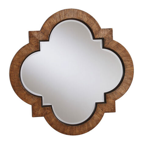 Light Quatrefoil Mirror ,  , large