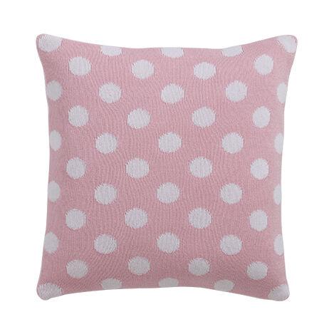 Dotty Knit Pillow, Petal ,  , large
