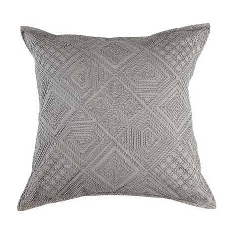Modern Gray Diamond Cord Pillow ,  , large