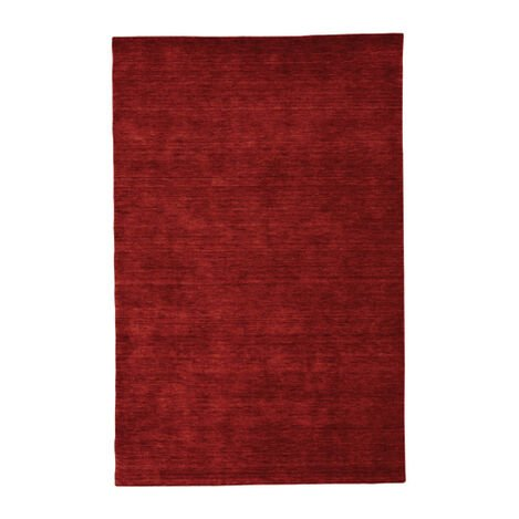 Loomed Wool Rug, Garnet Red ,  , large