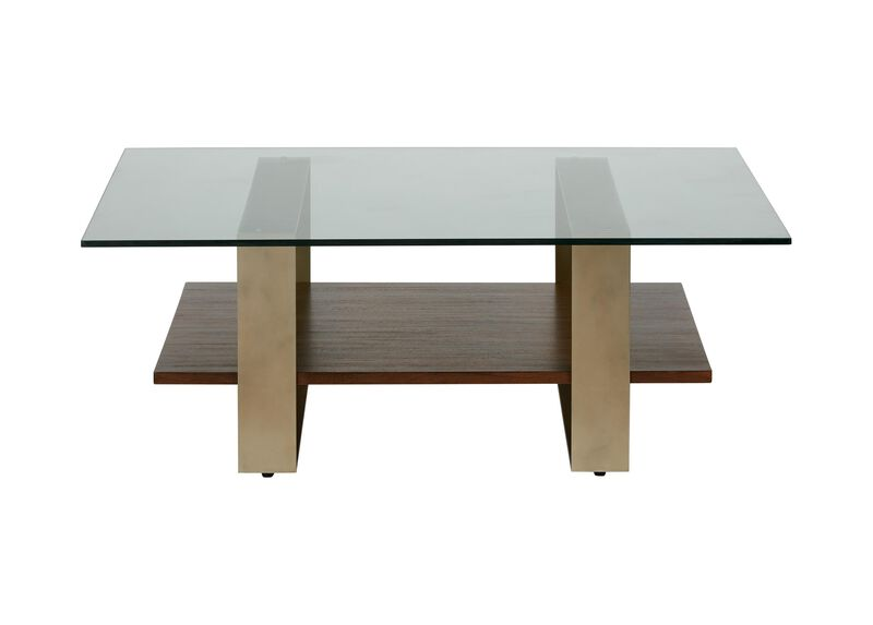 Rosemoor Square Glass-Top Coffee Table