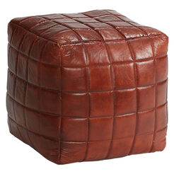 Theron Leather Pouf Recommended Product