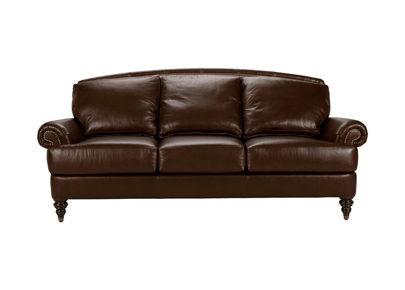 Hyde Leather Sofa, Quick Ship