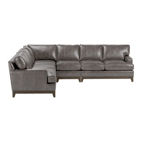 Arcata Four-Piece Leather Sectional, Quick Ship Product Tile Image 672120G4