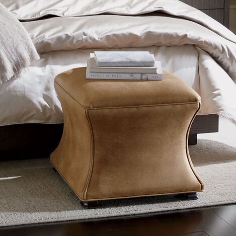 Corbin Leather Ottoman Product Tile Hover Image 727395