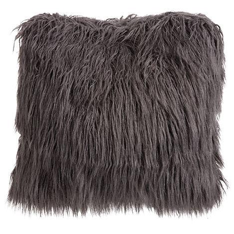Faux Fur Pillow, Charcoal Product Tile Image 065597
