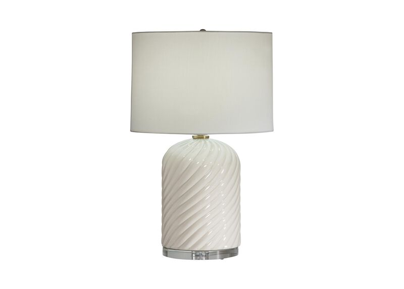 Quinn Ceramic Table Lamp, Ivory